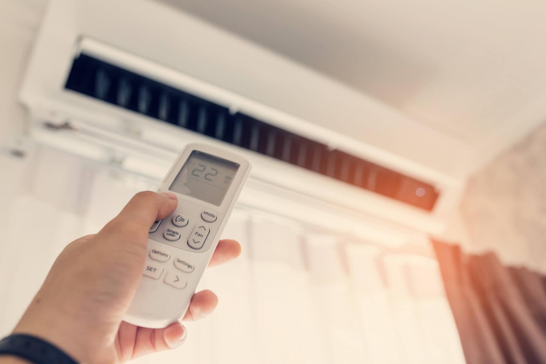 ovládání klimatizace
